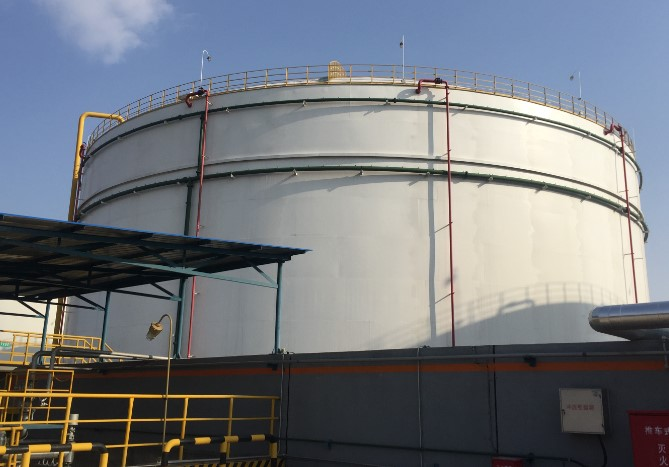 中石化油库油气回收储油罐